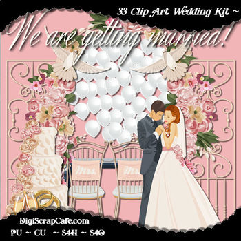 Getting Married Clip Art Package