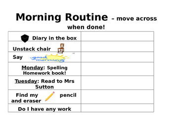 Getting Organised Daily routine