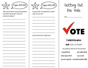 Getting Out the Vote Trifold - Treasures 5th Grade Unit 4 Week 3 (2009)