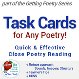 Getting Poetry - Task Cards for First Reading of Any Poetry