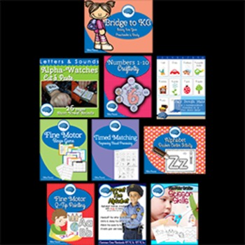 Getting Preschoolers Ready for Kindergarten Skills BUNDLE