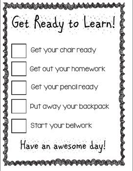 Getting Ready Checklist!