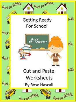 Back to School Alphabet Cut and Paste Special Education Fine Motor Skills
