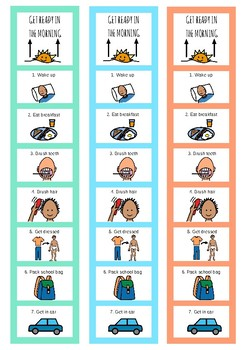 Getting Ready For School Visuals - For Kids With Autism