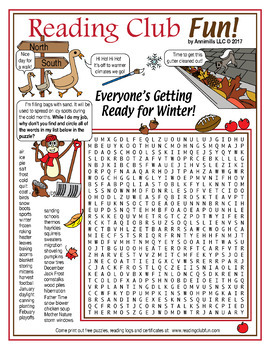 Getting Ready For Winter Puzzle Packet