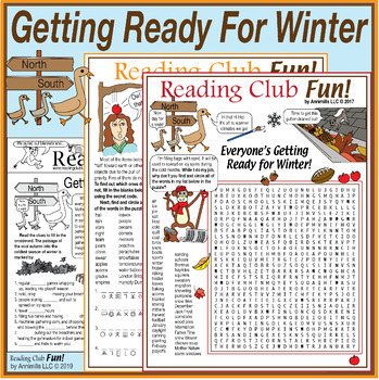 Getting Ready In the Fall For Winter Puzzle Packet