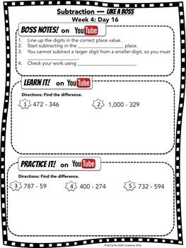 Getting Ready for 3rd Grade Math (8-week SUMMER Program) - No Prep - FREE VIDEOS