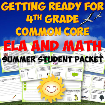 Summer Math Packet 3rd Going Into 4th Grade Worksheets