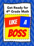 Getting Ready for 4th Grade Math (8-week SUMMER Program) -