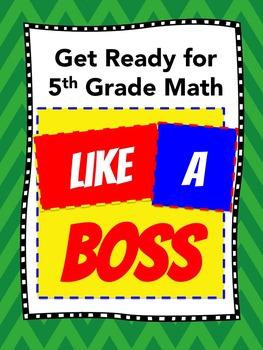 Getting Ready for 5th Grade Math (8-week SUMMER Program) - No Prep - FREE VIDEOS