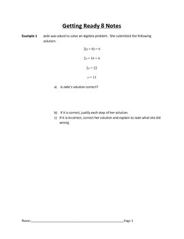 Getting Ready for Arithmetic Sequences Complete Bundled Unit