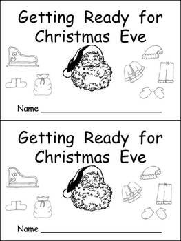 Getting Ready for Christmas Eve Kindergarten Emergent Reader book