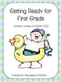 Getting Ready for First Grade - Summer Homework Packet