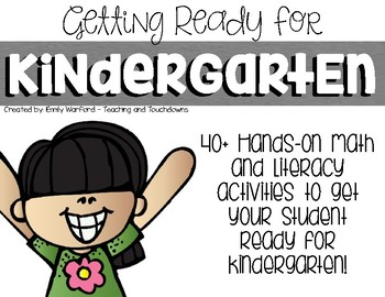 Getting Ready for Kindergarten-Hands On Summer Learning