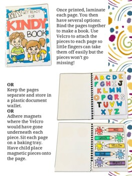 Getting Ready for Kindergarten Learning Activity Book