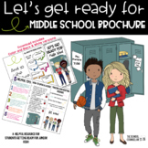 Getting Ready for Middle School Brochure