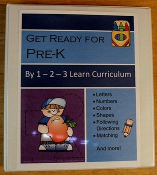 Getting Ready for PRE-K book