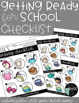 Getting Ready for School Checklist