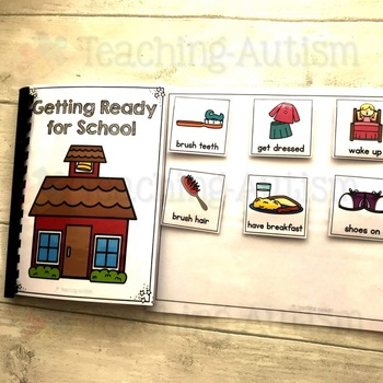Getting Ready for School Life Skills Adapted Book Sequencing