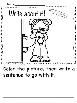 Get Back to School Writing Prompt for Kindergarten and First Grade