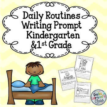 Get Back to School Writing Prompt for Kindergarten and Fir