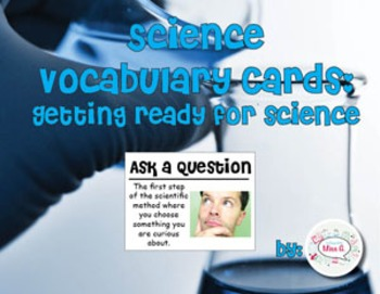 Getting Ready for Science Science Vocabulary Cards