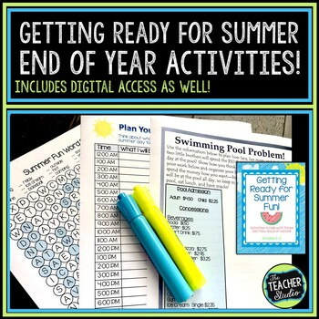 """Getting Ready for Summer """"Last Days of School"""" activities"""
