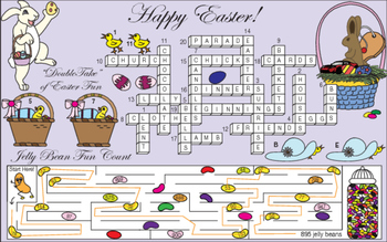 Getting Ready for a Happy Easter Two-Page Activity Set