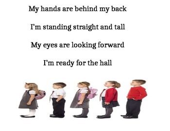 Getting Ready for the Hall Song: Poster (Responsive Classroom)