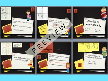 Getting Ready for the Math 8 Common Core Review Game PowerPoint