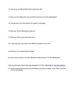 Getting Ready to Read To Kill a Mockingbird: a Context Webquest