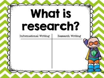 Getting Ready to Research -- Grades 3 - 8