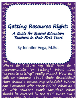 Getting Resource Right: A Guide for Sped Teachers in their First Years