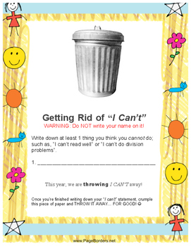 """Getting Rid of """"I Can't!"""""""