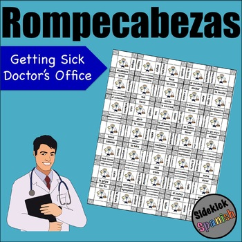 Getting Sick / Doctor's office vocabulary puzzle (asi se dice chapter 6)