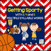 Speech Therapy: GETTING SPORTY WITH 3, 4 & 5 MULTISYLLABLE WORDS