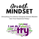 Getting Started:  Growth Mindset, Everything You Need (Teacher Resources)