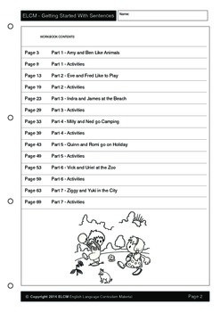 Getting Started With Sentences (71 pages)