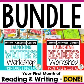 Getting Started in Reader's and Writer's Workshop {BUNDLE SET!}