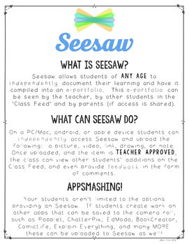 Getting Started on Seesaw Handout