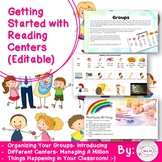 Getting Started with Reading Centers (Editable)