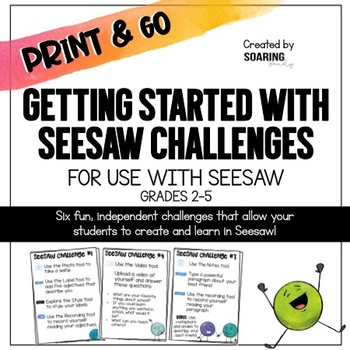 Getting Started with Seesaw Challenges | For Use with Seesaw
