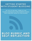 Blog Rubric and Self-Assessment