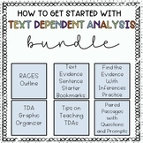 Getting Started with Text Dependent Analysis - TDA - A Growing Bundle