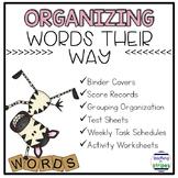 Words Their Way Organization Forms- Editable!