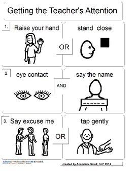 Getting Teacher's Attention Task Analysis