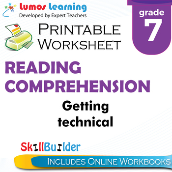 Getting Technical Printable Worksheet, Grade 7