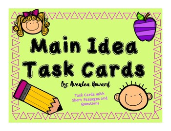 Getting The Main Idea Task Cards