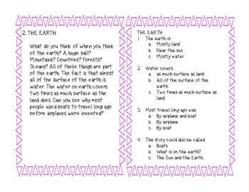 Getting The Main Idea Task Cards