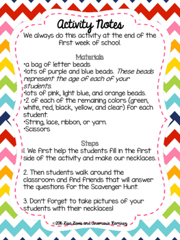 Getting To Know Me Necklace { a Back to School Activity}